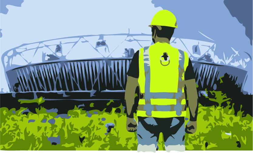Construction worker london olympics
